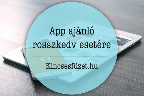App ajánló rosszkedv esetére